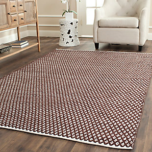 Hand Crafted 5' x 8' Area Rug, Brown, rollover