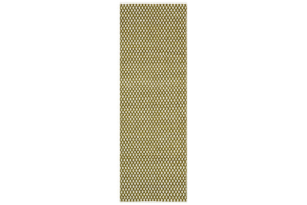 """Hand Crafted 2'3"""" x 7' Runner Rug, Green, large"""