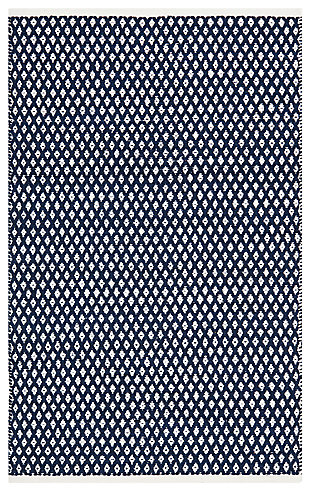 Hand Crafted 3' x 5' Doormat, Navy, large