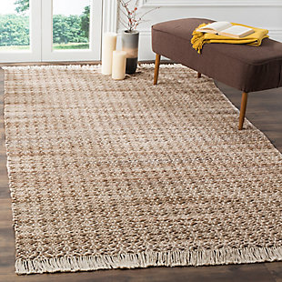 Hand Crafted 5' x 8' Area Rug, Ivory/Beige, rollover