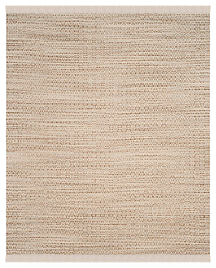 Hand Crafted 8' x 10' Area Rug, Ivory/Beige, large