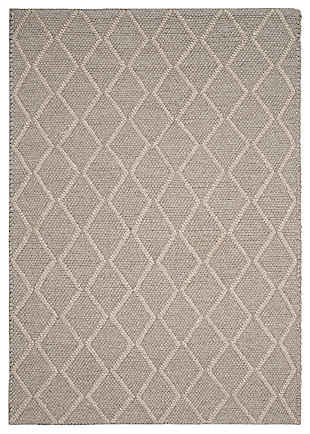 Hand Crafted 6' x 9' Area Rug, Gray, large