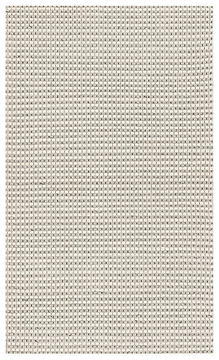 Hand Crafted 3' x 5' Area Rug, Silver/Ivory, large