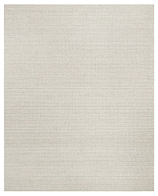 Hand Crafted 8' x 10' Area Rug, Silver/Ivory, large