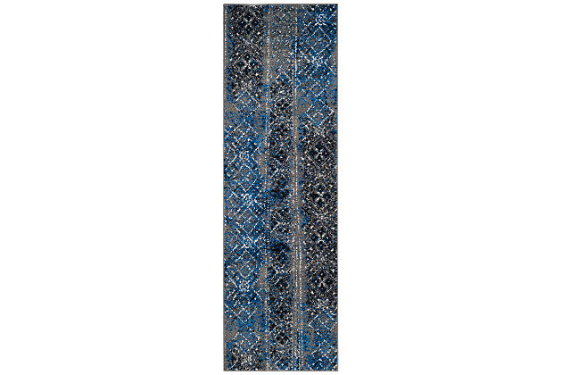 """Abstract 2'6"""" x 10' Runner Rug, Multi, large"""