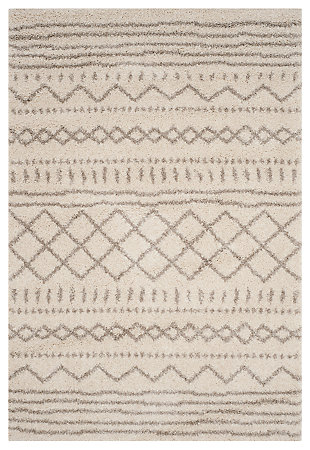 "Hand Crafted 5'1"" x 7'6"" Area Rug, Ivory/Beige, large"