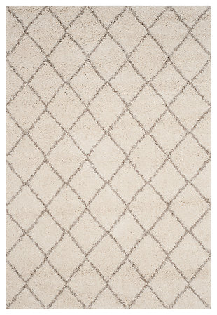 "Hand Crafted 6'7"" x 6'7"" Square Rug, Ivory/Beige, large"