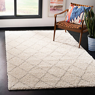 """Hand Crafted 5'1"""" x 7'6"""" Area Rug, Ivory/Beige, rollover"""