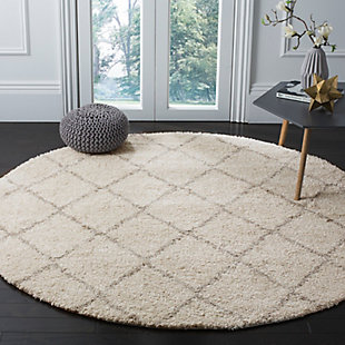 """Hand Crafted 6'7"""" x 6'7"""" Square Rug, Ivory/Beige, rollover"""