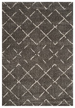 """Hand Crafted 6'7"""" x 9'2"""" Area Rug, Brown/Ivory, large"""