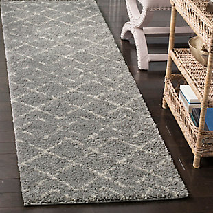 """Hand Crafted 2'3"""" x 8' Runner Rug, Gray/Ivory, rollover"""