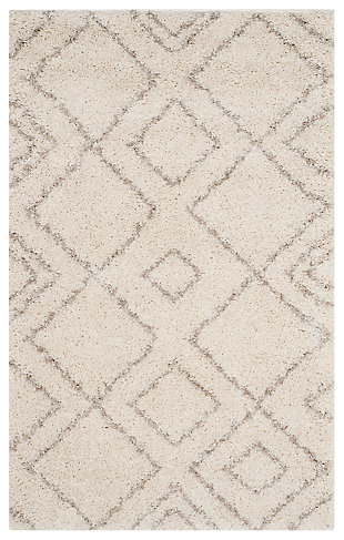Hand Crafted 8' x 10' Area Rug, Gray/Ivory, large