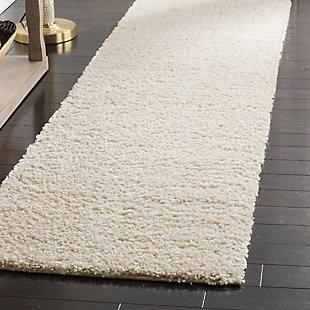 """Hand Crafted 2'3"""" x 12' Runner Rug, Cream, large"""