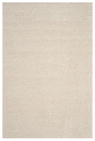 "Hand Crafted 5'1"" x 7'6"" Area Rug, Cream, rollover"