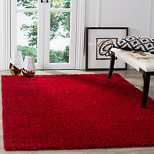 """Hand Crafted 5'1"""" x 7'6"""" Area Rug, Red, large"""