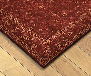 Home Accents 5' x 8' Rug, Red, large