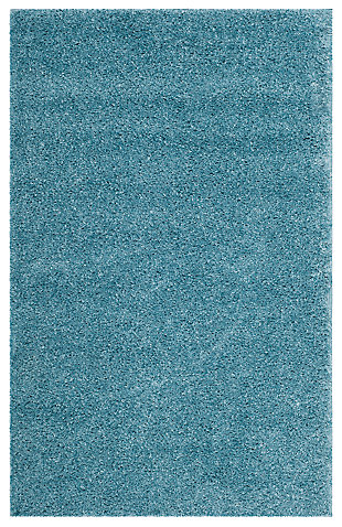 Hand Crafted 3' x 5' Doormat, Aqua, large