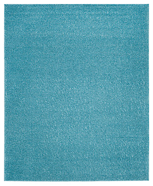 Hand Crafted 8' x 10' Area Rug, Aqua, large