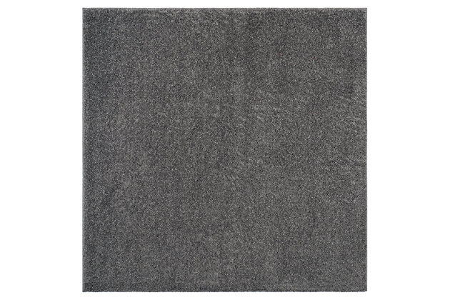 """Hand Crafted 6'7"""" x 6'7"""" Square Rug, Dark Gray, large"""