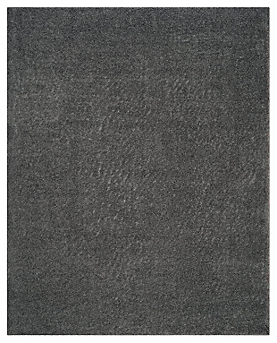 Hand Crafted 8' x 10' Area Rug, Dark Gray, large
