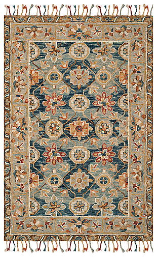 Accessory 3' x 5' Area Rug, Navy/Gray, large