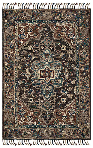 Accessory 3' x 5' Area Rug, Charcoal/Brown, large