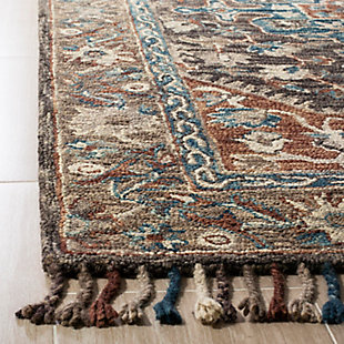 Accessory 5' x 8' Area Rug, Charcoal/Brown, large