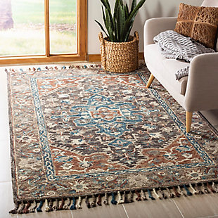 Accessory 5' x 8' Area Rug, Charcoal/Brown, rollover