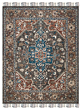 Accessory 8' x 10' Area Rug, Charcoal/Brown, large