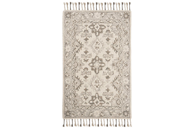 Accessory 3' x 5' Doormat, Light Gray, large