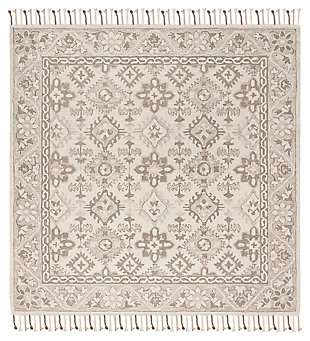 Accessory 7' x 7' Square Rug, Light Gray, rollover