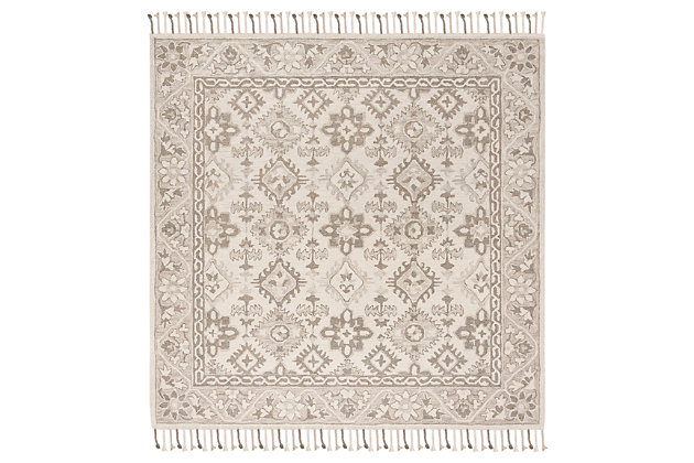 Accessory 7' x 7' Square Rug, Light Gray, large