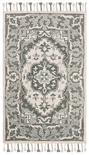 Accessory 3' x 5' Area Rug, Light Gray, large
