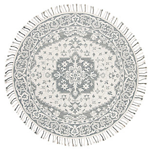 Accessory 7' x 7' Round Rug, Light Gray, large