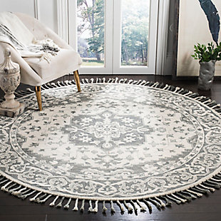 Accessory 7' x 7' Round Rug, Light Gray, rollover