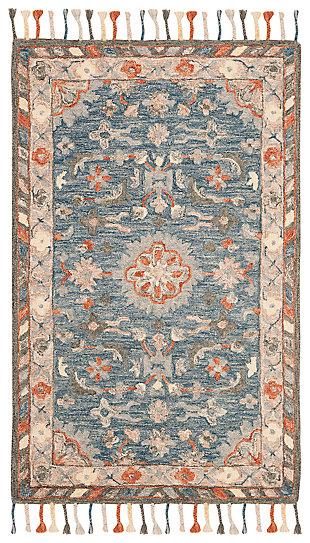 Accessory 3' x 5' Doormat, Blue/Rust, large