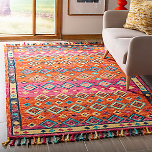 Accessory 5' x 8' Area Rug, Orange/Fuchsia, rollover