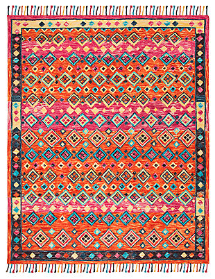 Accessory 8' x 10' Area Rug, Orange/Fuchsia, rollover