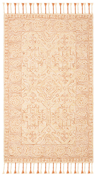Accessory 3' x 5' Doormat, Ivory/Blush, large