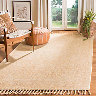 Accessory 5' x 8' Area Rug, Ivory/Blush, large