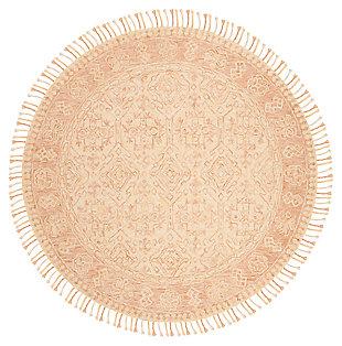 Accessory 7' x 7' Round Rug, Ivory/Blush, large