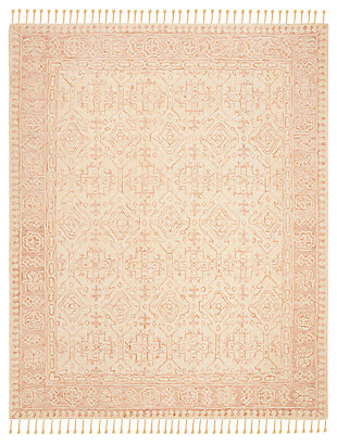 Accessory 8' x 10' Area Rug, Ivory/Blush, large