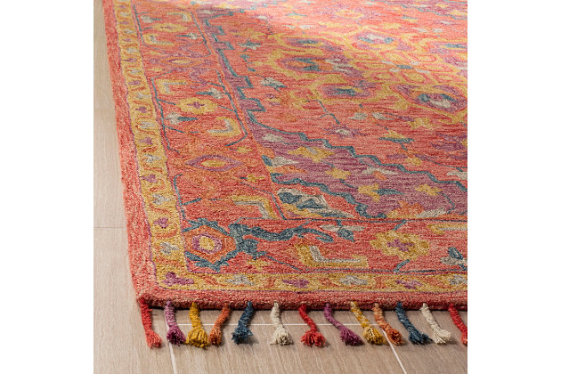 Accessory 5' x 8' Area Rug, Pink/Violet, large