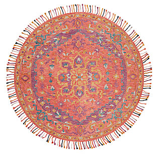 Accessory 7' x 7' Round Rug, Pink/Violet, large