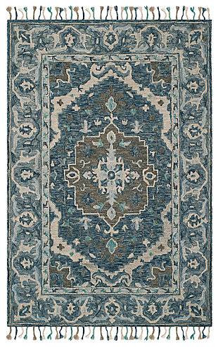 Accessory 5' x 8' Area Rug, Dark Blue/Gray, large