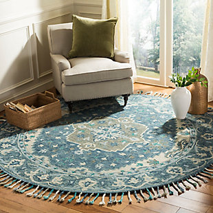Accessory 7' x 7' Round Rug, Dark Blue/Gray, rollover