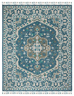 Accessory 8' x 10' Area Rug, Dark Blue/Gray, large