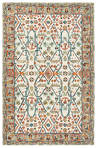 Accessory 5' x 8' Area Rug, Beige/Brown, large