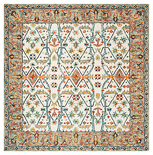 Accessory 7' x 7' Square Rug, Beige/Brown, large