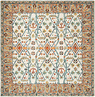 Accessory 7' x 7' Square Rug, Beige/Brown, rollover
